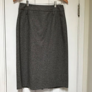 Hugo Boss grey wool & angora pencil skirt size 6